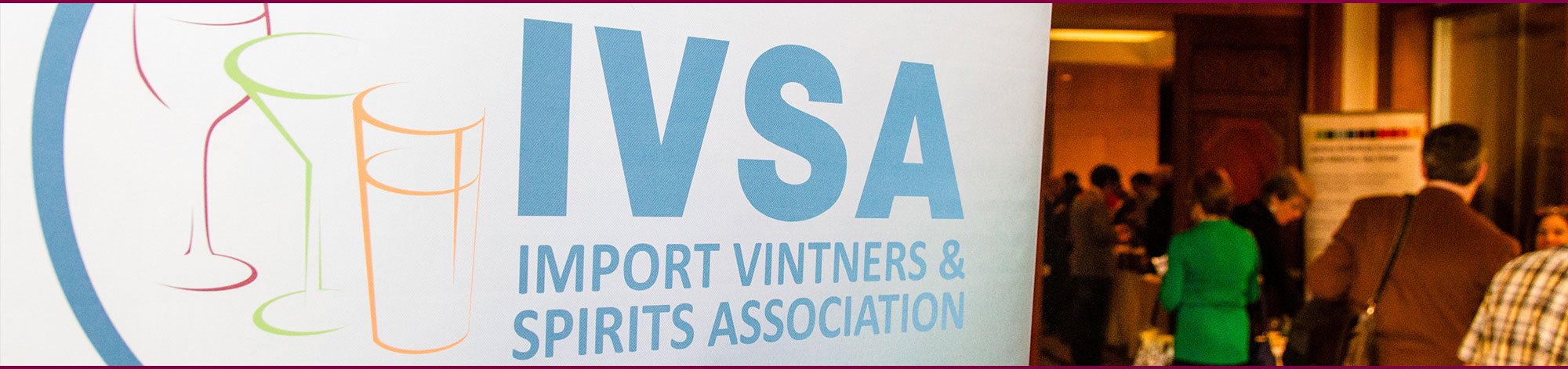 IVSA trade event display graphic